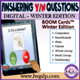BOOM Cards Answering Yes No Questions - WINTER EDITION Teletherapy
