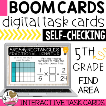 BOOM Cards Area with Fractional Sides