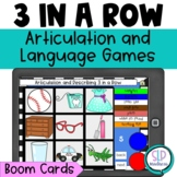 BOOM Cards Articulation & Language Tic-Tac-Toe Games Mixed