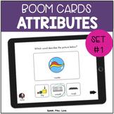 Attributes for Speech Therapy BOOM Cards   Set #1   Descri