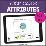 BOOM Cards Attributes for Speech Therapy Set #1 | Describi