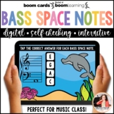 Distance Learning Music BOOM Cards: Bass Space Notes 100 N