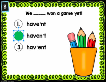 BOOM Cards CONTRACTIONS & POSSESSIVES Digital Task Cards