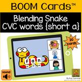 CVC Words with Blending Snake {short a} BOOM Cards