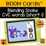 CVC Words with Blending Snake {short i} BOOM Cards