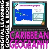 Caribbean Map and Geography DIGITAL Cards | Google Classroom™ | Boom