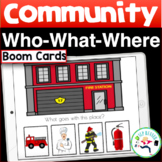 BOOM Cards Community Places- Wh Questions