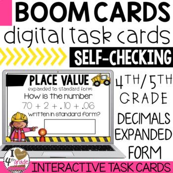 BOOM Cards Decimals Expanded Form