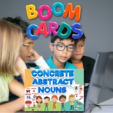 BOOM Cards Digital Quiz Concrete/Abstract Nouns with Audio