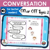 BOOM Cards | Digital Speech Therapy | Conversation On or Off Topic 2