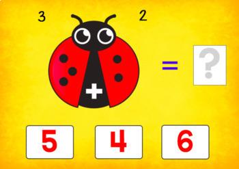 BOOM Cards (Digital Task Cards) Addition Facts: Ladybug Theme