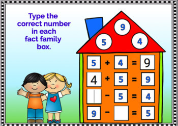 BOOM Cards (Digital Task Cards):  Addition & Subtraction Fact Families