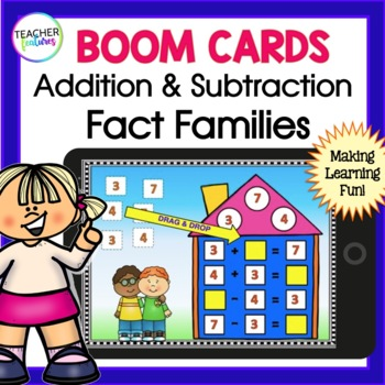 BOOM CARDS MATH | Digital Fact Families
