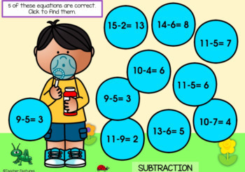 BOOM Cards (Digital Task Cards):  Addition & Subtraction Facts: Bubble Theme