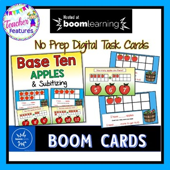 BOOM Cards (Digital Task Cards): Base Ten & Subitizing: APPLES THEME
