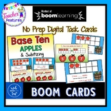 Boom Cards Kindergarten BASE TEN & SUBITIZING Apples theme