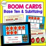 BOOM CARDS FALL APPLES Math BASE TEN & SUBITIZING