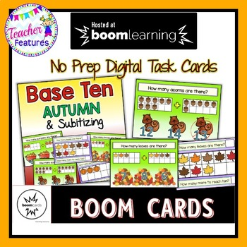 BOOM Cards (Digital Task Cards): Base Ten & Subitizing: Autumn Theme