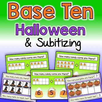 BOOM CARDS HALLOWEEN | TEN FRAMES | BASE TEN ACTIVITIES | SUBITIZING