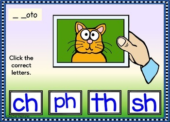 BOOM Cards (Digital Task Cards) Digraphs: SH, CH, WH, TH, KN, PH & WR