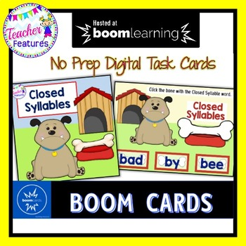 BOOM CARDS SYLLABLES : Closed Syllable Sort