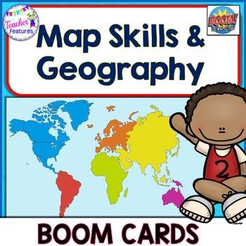 BOOM Cards (Digital Task Cards): Continents, U.S. Regions & Oceans