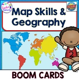 BOOM Cards DIGITAL TASK CARDS Continents, U.S. Regions & Oceans