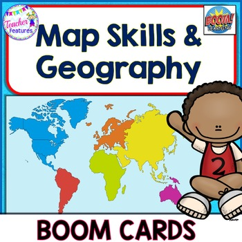 BOOM CARDS DIGITAL TASK CARDS GEOGRAPHY Continents & Oceans