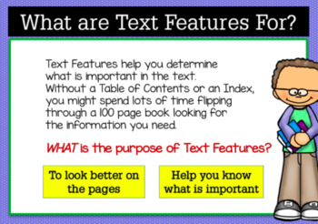 BOOM Cards (Digital Task Cards):  Do You Know Your Nonfiction Text Features?