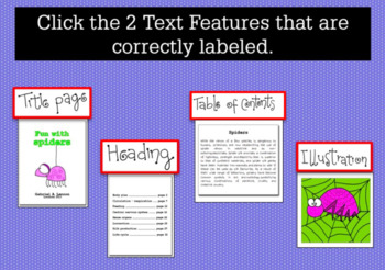 DIGITAL BOOM CARDS READING NONFICTION TEXT FEATURES 2nd grade 3rd grade