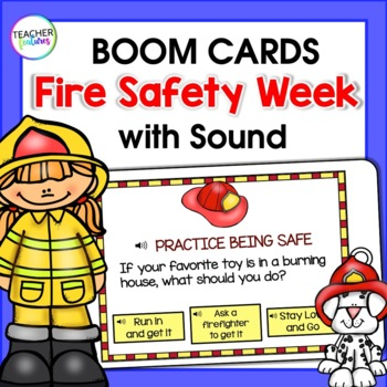 BOOM Cards (Digital Task Cards):  Fire Safety / Fire Prevention Week