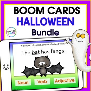 BOOM CARDS HALLOWEEN | Digital Task Cards | MATH & LITERACY Bundle