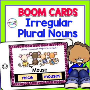 BOOM CARDS ELA | GRAMMAR | Irregular Plural Nouns | 2nd Grade