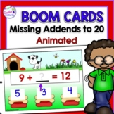 BOOM Cards (Digital Task Cards): Missing Addends: Dog Theme