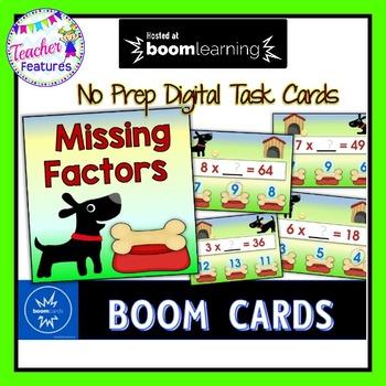 BOOM Cards (Digital Task Cards): Missing Factors: Dog Theme