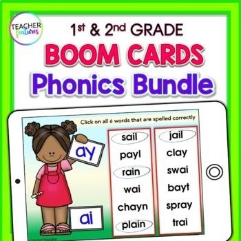 BOOM Cards (Digital Task Cards) PHONICS BUNDLE