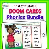 First Grade BOOM CARDS : 1st grade Vowel Teams & Short Vowels PHONICS BUNDLE