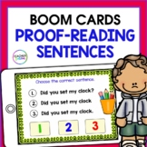BOOM CARDS READING Proof-reading Sentences