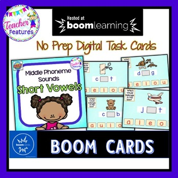 BOOM Cards (Digital Task Cards): Short Vowels- Which Letter is it?