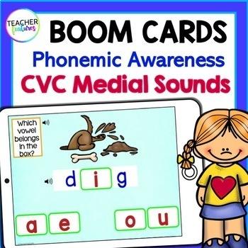 Boom Cards Kindergarten SHORT VOWELS- Which Letter is it?