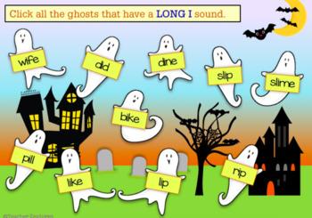 BOOM Cards (Digital Task Cards): Silent E: Halloween Ghosts