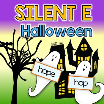 BOOM Cards Silent E Words HALLOWEEN GHOSTS Digital Task Cards