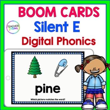 DIGITAL BOOM CARDS PHONICS Silent E Word Work