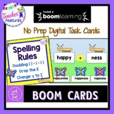 BOOM CARDS SPELLING RULES ACTIVITIES for Doubling Rule & Drop the E Rule