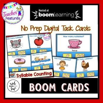 BOOM Cards (Digital Task Cards): Syllable Counting- Segmenting