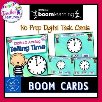 BOOM CARDS MATH   Telling Time Digital & Analog