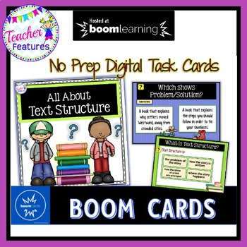 BOOM Cards (Digital Task Cards):  Text Structures