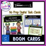 BOOM CARDS READING Text Structures Digital Task Cards