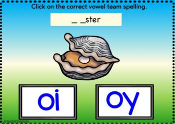 BOOM Cards (Digital Task Cards):  Vowel Teams: OI & OY