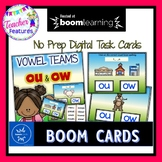 BOOM Cards (Digital Task Cards) Vowel Teams: OU & OW